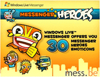 messenger heroes, free emoticon pack