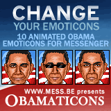obamaticons, free animated barack obama emoticons for windows live messenger